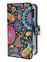 Värikäs Maalaus Pattern PU Leather Case telineellä ja korttipaikka Samsung Galaxy Note 2 N7100