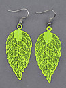 Tree Leaf Computer Fluorescent Color Earrings