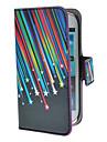 Pour Samsung Galaxy Coque Porte Carte Avec Support Clapet Motif Magnetique Coque Coque Integrale Coque Lignes / Vagues Cuir PU pour