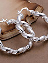 Silver Twisted Argollas