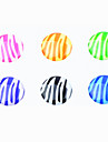 Zebra-Stripe Resin Button Sticker(6 PCS)