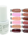 YeManNvYou®Sequins UV Color Gel Nail Polish No.49-60 (5ml, Assorted Colors)