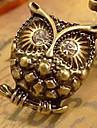 Exquis réalistes Boucles d'oreilles diamant en trois dimensions personnalisée Owl E678