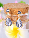 Drop Earrings Gemstone Simulated Diamond Alloy Elegant Fashion Drop Jewelry Daily