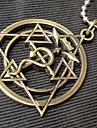 Joias Inspirado por Fullmetal Alchemist Edward Elric Anime Acessorios de Cosplay Colares Dourado Aco Inoxidavel Masculino