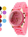 Women\'s and Children\'s Silicone Analog Quartz Wrist Watch (Assorted Colors)