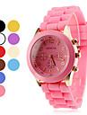 Frauen-und Kinder-Silikon Analog-Quarz-Armbanduhr (farbig sortiert)