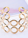 European Style Gold Plated Double Layers Hollow Circles  Cuff Bracelet Christmas Gifts