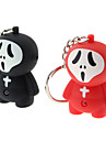 ABS Porte-clés en forme de fantôme avec LED et voix (couleur aléatoire)