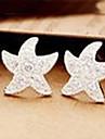 Earring Star Stud Earrings Jewelry Women Birthstones Daily Alloy