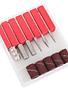 6PCS Nail Art Drill Bits and Sanding Bands