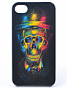 Joyland ABS Three-Dimensinal Colorful Skull Back Case for iPhone 4/4S