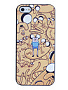 Scared Man in Worms' World Pattern PC Hard Case with Black Frame for iPhone 5/5S