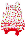 Cool Strawberry Pattern Strap Dress for Pets Dogs (Assorted Sizes)