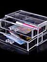 Acrylic Transparent Double Layer Cosmetics Storage Drawer Cosmetic Organizer