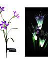 Changement de couleur solaire de fleur de lis Stake lumiere (cis-58263A)