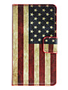 American Flag Pattern Full Body Case with Card Slot for HuaWei Y300