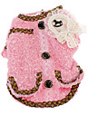 Dog Coat Red / Pink Dog Clothes Winter Pearl