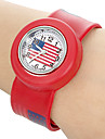 Femme Montre Decontractee Quartz Bande retro Bleu Rouge Vert Rose Jaune Rouge Rose
