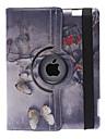 Klassinen tyyli perhonen malli 360 astetta kääntyvä PU Leather Full Body Case jalusta iPad 2/3/4