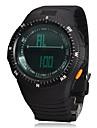 Multi-funcional Digital Big Round Dial Rubber relógio de pulso banda Men (cores sortidas)