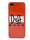 nouveau boitier en plastique de biere Duff pour iphone 5/5s