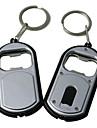 Bottle Opener Petit à double usage lampe de poche porte-clés Boucle Hanging (couleur aléatoire)