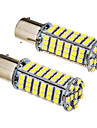 2 Pcs 1156 BA15S 5W 102x3528SMD 420-450LM 6000K Cool White Light LED Bulb (12V)