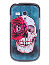 Crânio Padrão Capa Hard Case Voltar Red Rose para Samsung Galaxy S3 Mini I8190