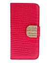 Motif Case Full Body Stripe Crocodile avec Golden Diamond bouton et fente pour carte pour l\'iPhone 5/5S (couleurs assorties)