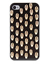 Golden Cool Skulls Covered Hard Case with Glue for iPhone 4/4S (Assorted Colors)