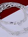 (1 Pc) Moda liga de prata colar Chain (Silver)