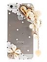 Capa Rigida Transparente com Padrao delicado e Pingente de Perolas e Diamantes