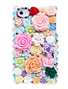 Colorful Flowers Pattern Metal Jewelry Back Case for iPhone 5/5S