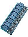 8-channel placa de modulo de rele w / isolamento optoacoplador (funciona com oficial (para Arduino) placas)
