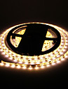 Impermeavel 24W 5M 60x3528SMD 900-1200LM 2800-3200K luz branca quente LED Strip Light (DC12V)