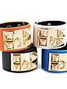 Style punk rivet bracelet en cuir (couleurs assorties)
