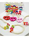 Бижутерия 1 ожерелье 1 браслет Для вечеринок Жемчуг 1 комплект Девочки Красный Розовый Свадебные подарки