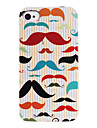 Colorful Moustache ABS Back Case for iPhone 4/4S