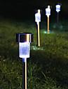 8 Белый светодиод нержавеющей стали солнечной энергии света Открытый украшения сада Газон лампа (СНГ-57267)