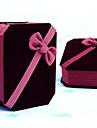 6.5x8cm boîte à bijoux de cadeau de bracelet de velours rouge
