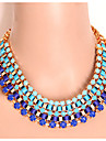 Necklace Statement Necklaces Jewelry Party / Daily Fashion Alloy / Acrylic Black / Blue / Green 1pc Gift