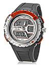 남성 스포츠 시계 디지털 시계 LCD 슬라이드 규칙 달력 크로노그래프 방수 듀얼 타임 존 석영 디지털 밴드 블랙