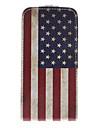 Amerikan kansallinen lippu Pattern PU Leather Täysi Bady Case for iPhone 5/5S
