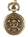 Women's Pocket Watch Quartz Alloy Band Vintage Skull Bronze