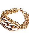 Fashion Golden Chain & Link Bracelet(Random Color)