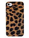 Brown Leopard Print Pattern ABS zurueck Fall fuer iPhone 4/4S