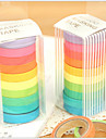 cinta diseno colorido del arco iris (10 piezas)