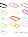 Sólido Quadro Cor Suave TPU Bumper para iPhone 5C