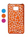 Modello Heart-shaped Radium Carving Hard Case per Samsung i9100 Galaxy S2